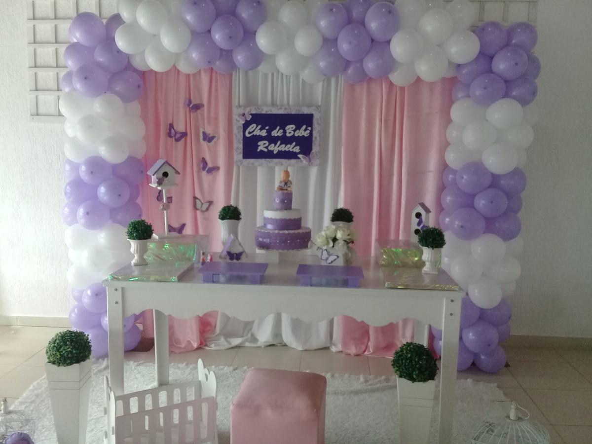 Decoraç u00e3o chá de Beb u00ea Lilas e rosa no Elo7 Anabelle Decorações (BBEE81)