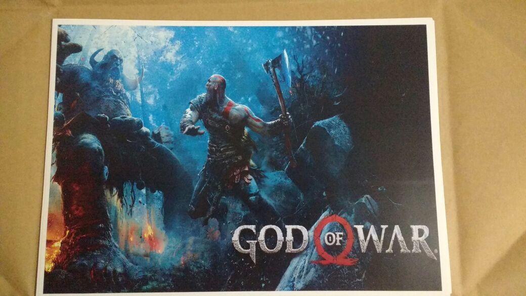 Mueble Aparador Gris Ceniza ~ Parede De Posters Zoom Poster Papel De Parede Novo God Of War Kratos Papel A Papel De Parede