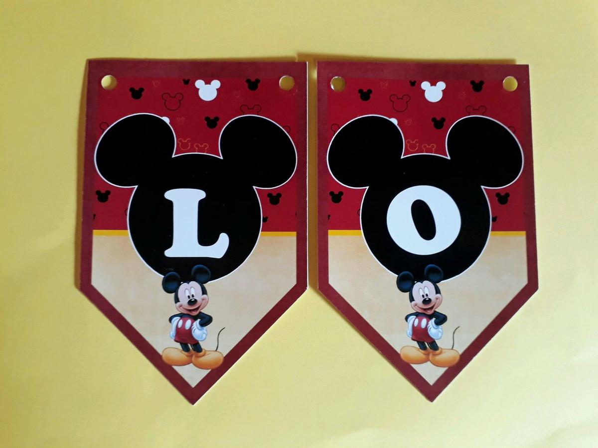 Bandeirola Mickey no Elo7  a7b87554e3e9f