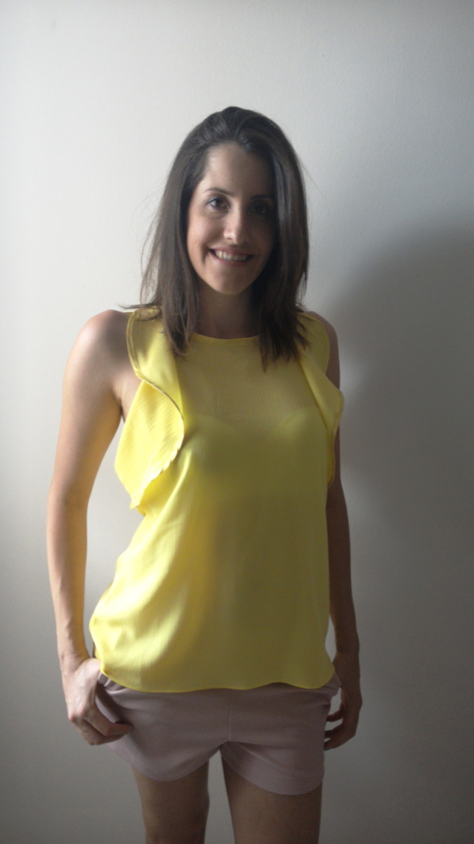 5004ca3865 Blusa babados amarela no Elo7