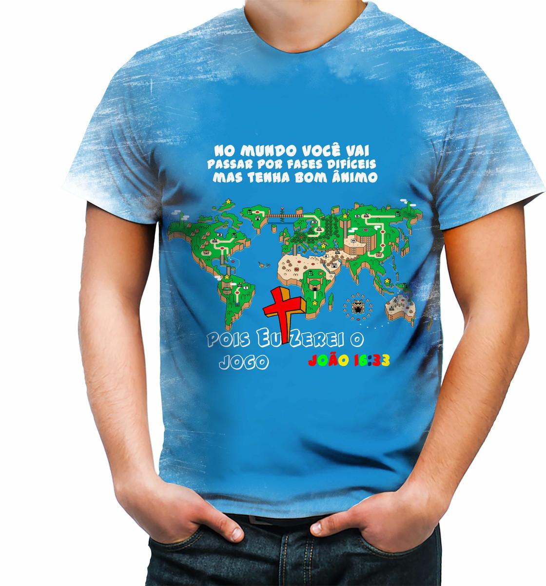 3aade6544 Camisa Camiseta Personalizada Jesus Salvador João 16 33 no Elo7 ...
