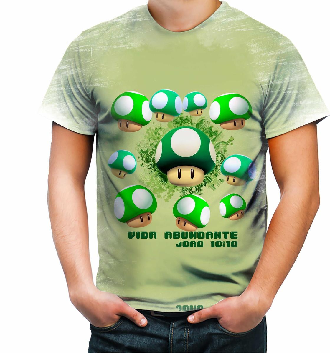 95805e4b6 Camisa Camiseta Personalizada Vida Abundante João 10 10 no Elo7 ...