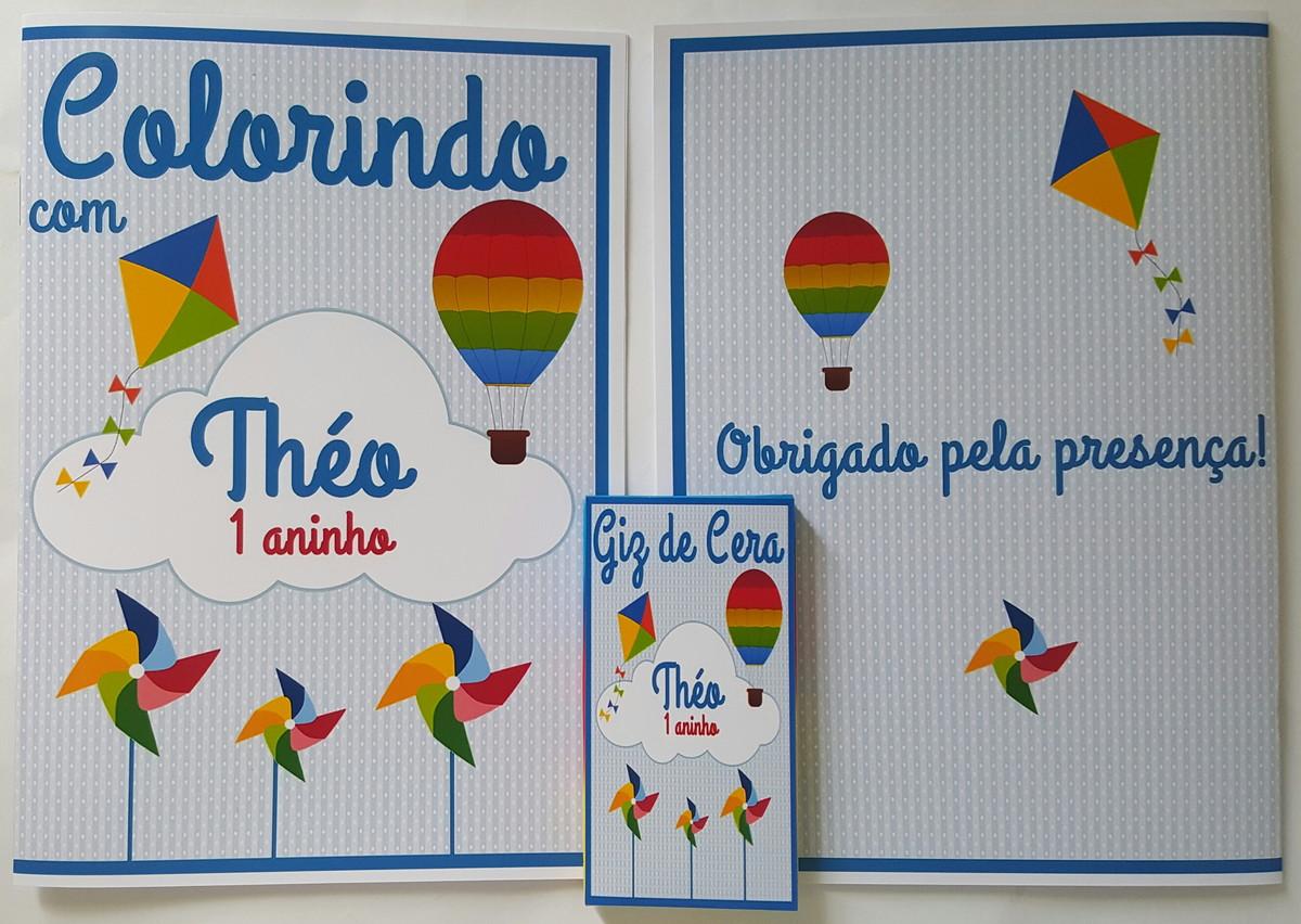 Kit Colorir Baloes Pipas E Cataventos No Elo7 Divertida Mente