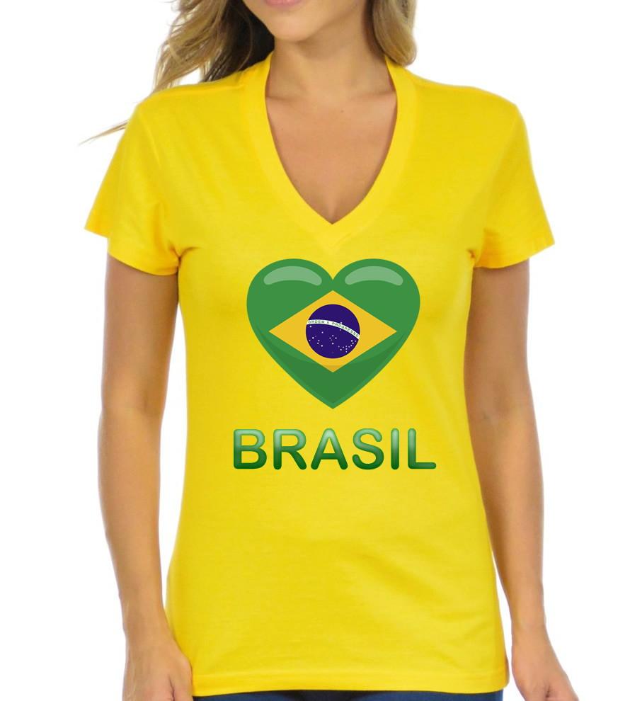 f39b59326a Camiseta Baby Look Gola V Amarela Seleção Brasileira Copa no Elo7 ...