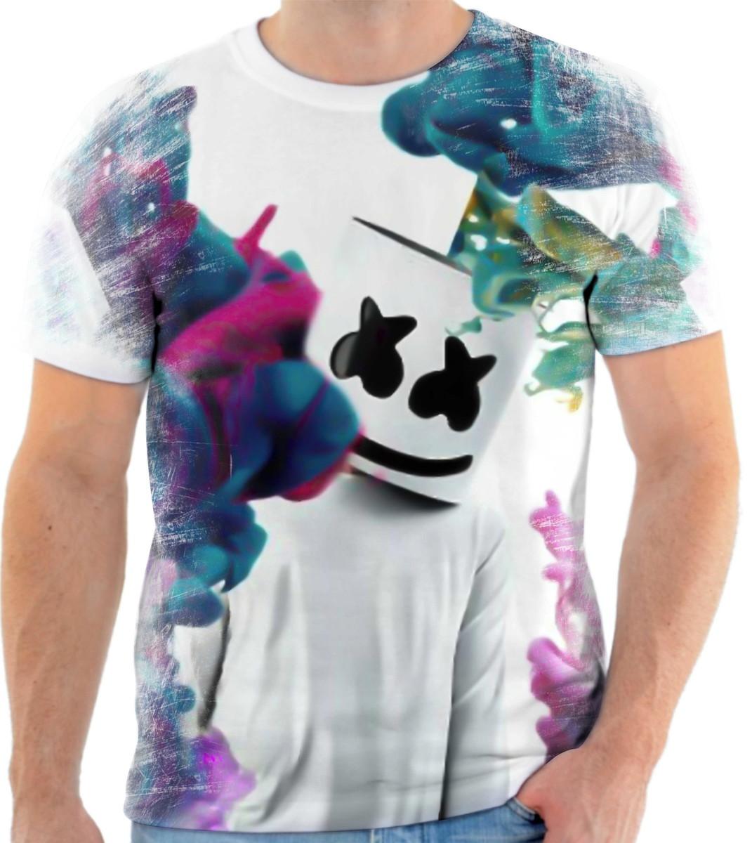 camisa camiseta personalizada produtor marshmello dj 3 no elo7