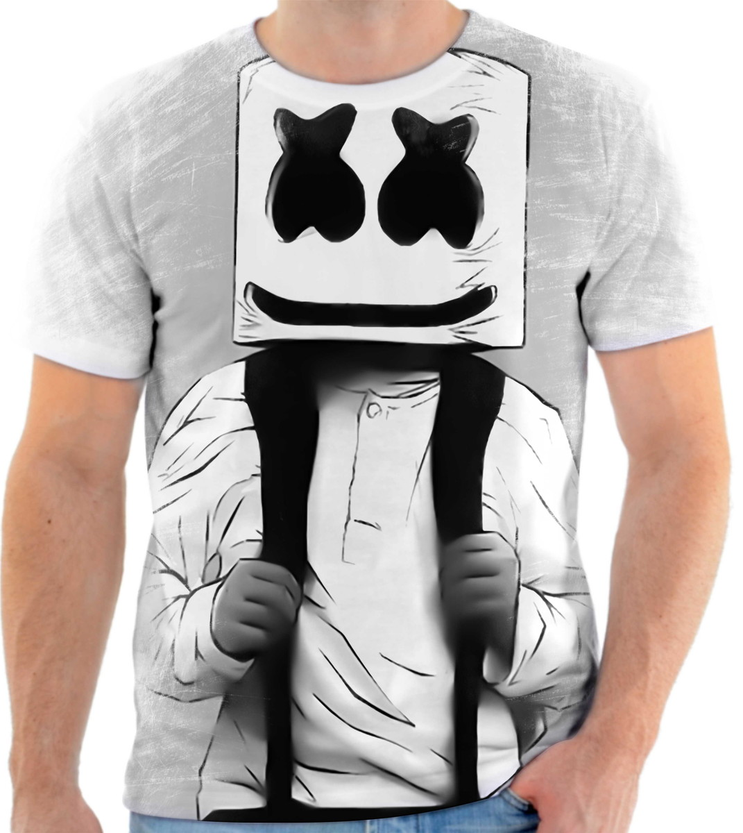 camisa camiseta personalizada produtor marshmello dj 5 no elo7