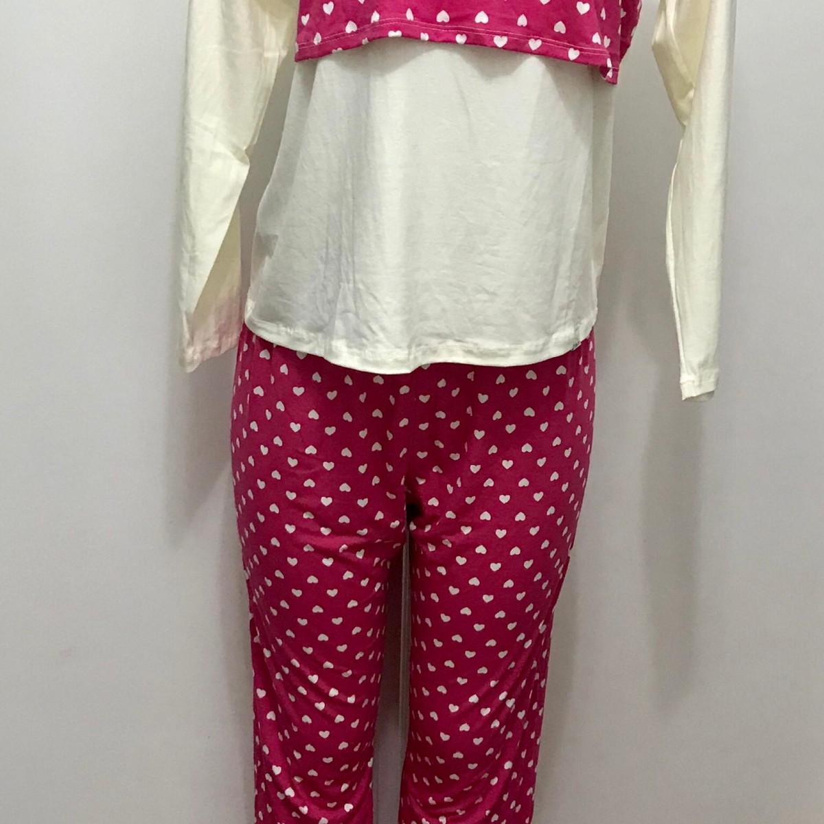 5a75c4fe2be9af Pijama amamentação coração