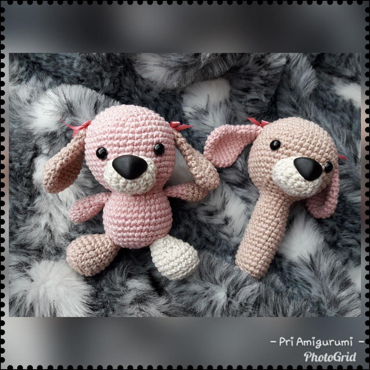 Kit Para Bebê Naninha Com Amigurumi De Cachorro - R$ 99,90 em ...   1200x1200