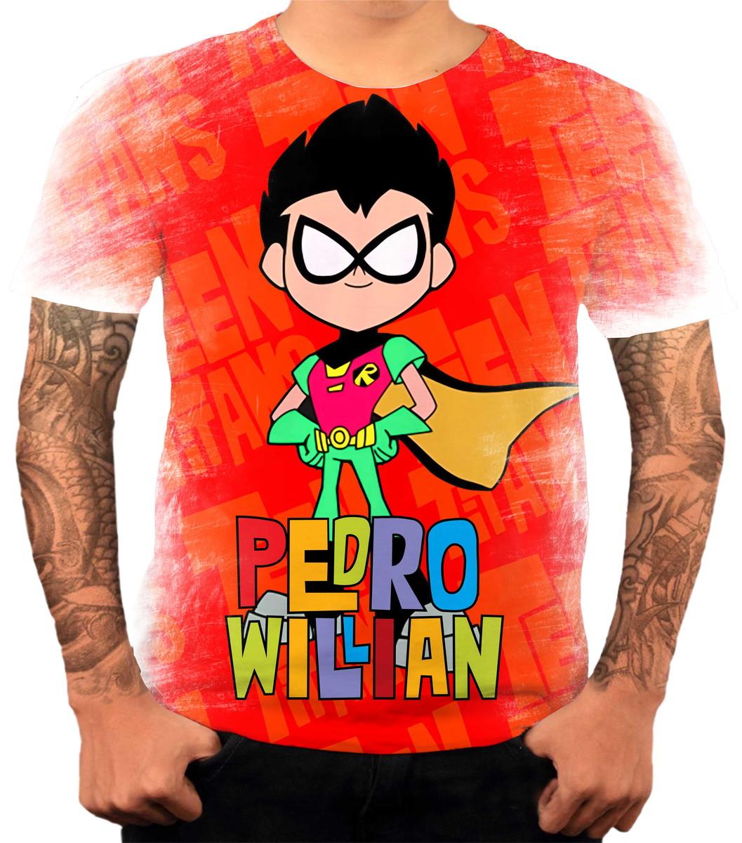 284093626b Camiseta Camisa Personalizada Jovens Titãs Aniversário Nome no Elo7 ...