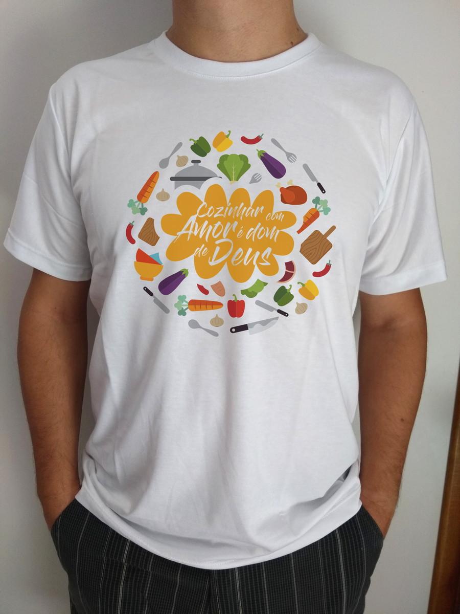 58f1e62b4e Camiseta Branca M 100 Algodao Elo7
