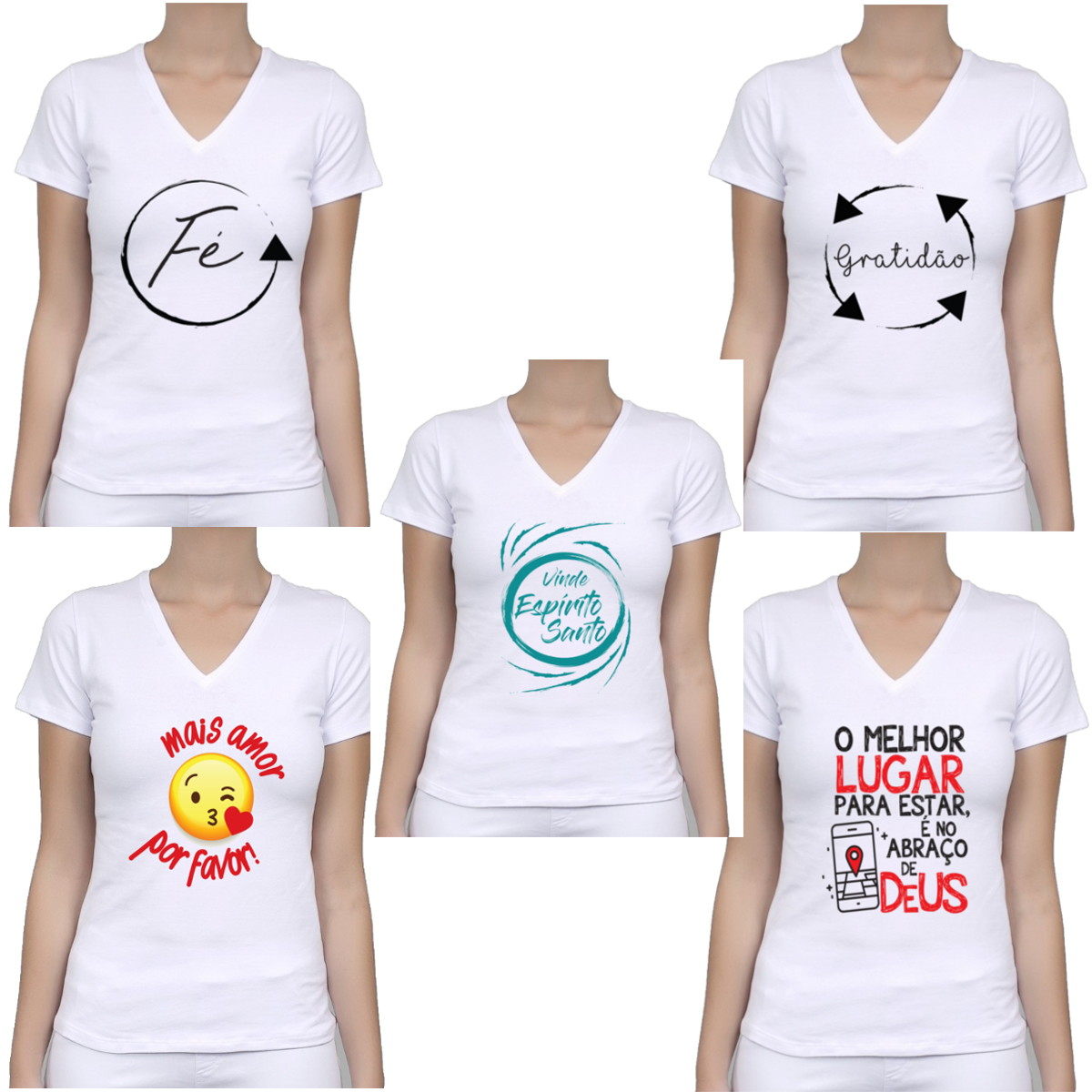 75d71f7df Kit 5 Camiseta Baby Look Feminino Gospel Fé Atacado no Elo7 ...