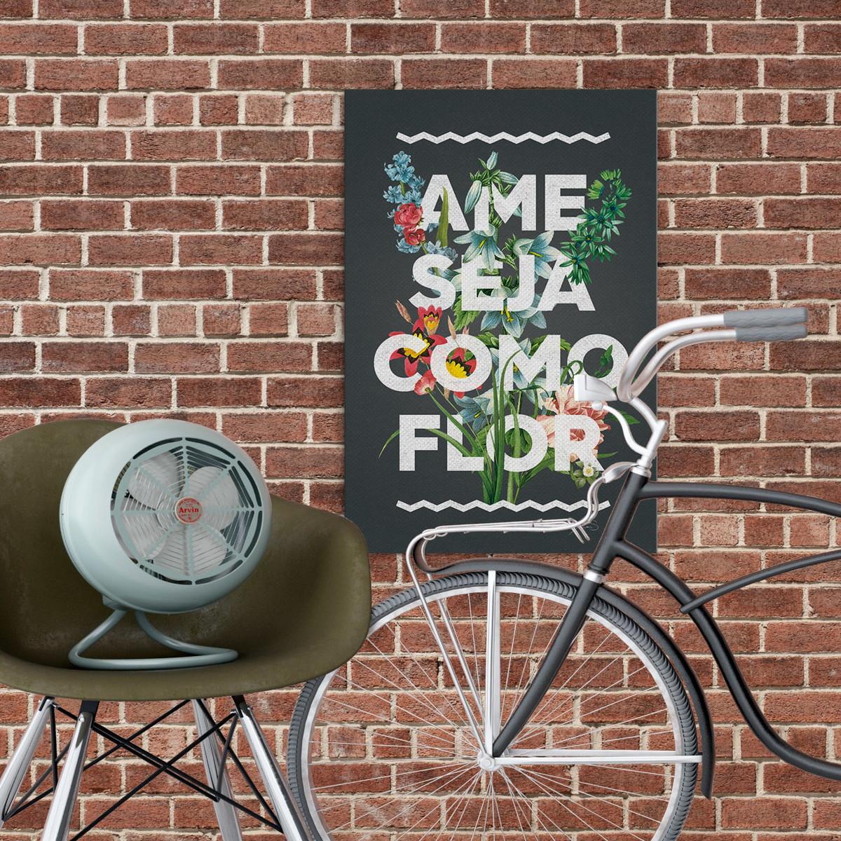 faa550d91e Pôster Ame Como Flor no Elo7