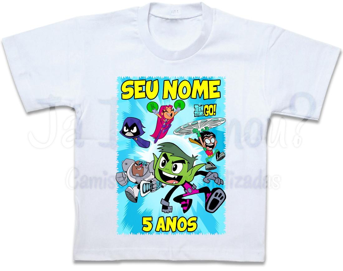 356cfeb018 Camiseta Jovens Titãs no Elo7