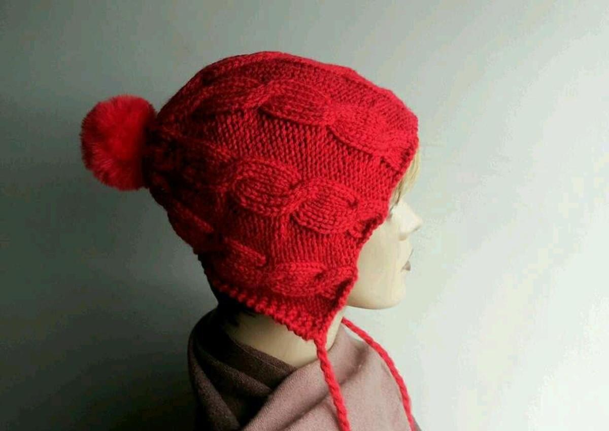 e6f2c90f68615 Touca de tricô vermelha no Elo7