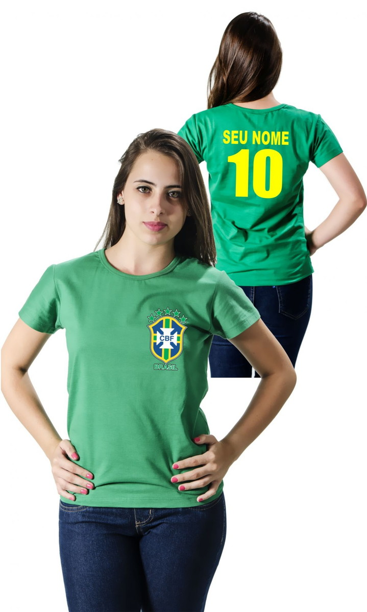 Camiseta Personalizada Brasil no Elo7  4a263f3d1ee7b