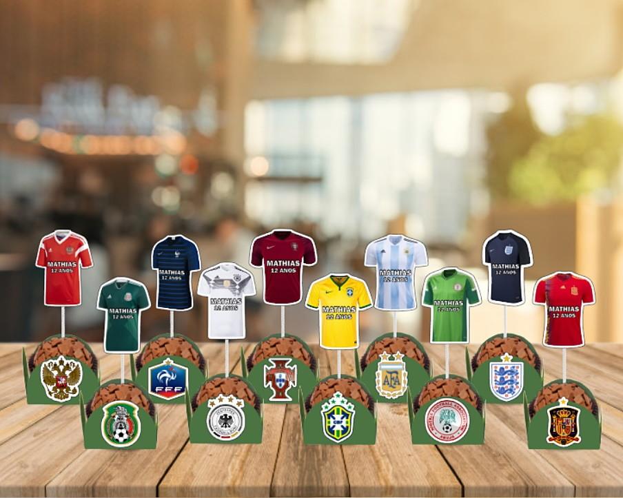 24546e5986 Topper Camisa Seleção Copa do Mundo no Elo7