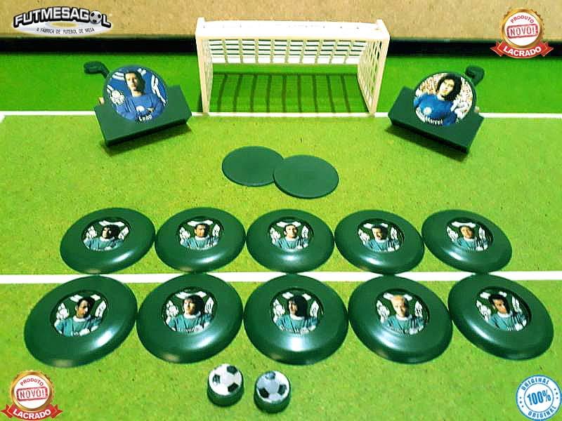 b425f81db9 1 Jogo Futebol de Botão VERDÃO ACADEMIA 1972-73 com Fotos no Elo7 ...