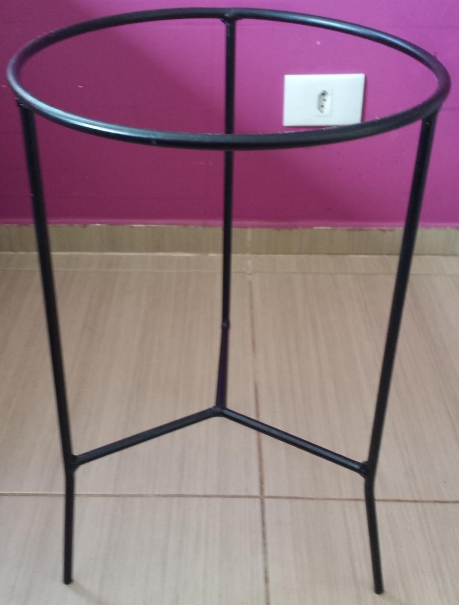 Suporte para vasos de plantas de ch o em ferro altura 60 cm no elo7 luiz eduardo monteiro bcdae9 - Pedestal para plantas ...