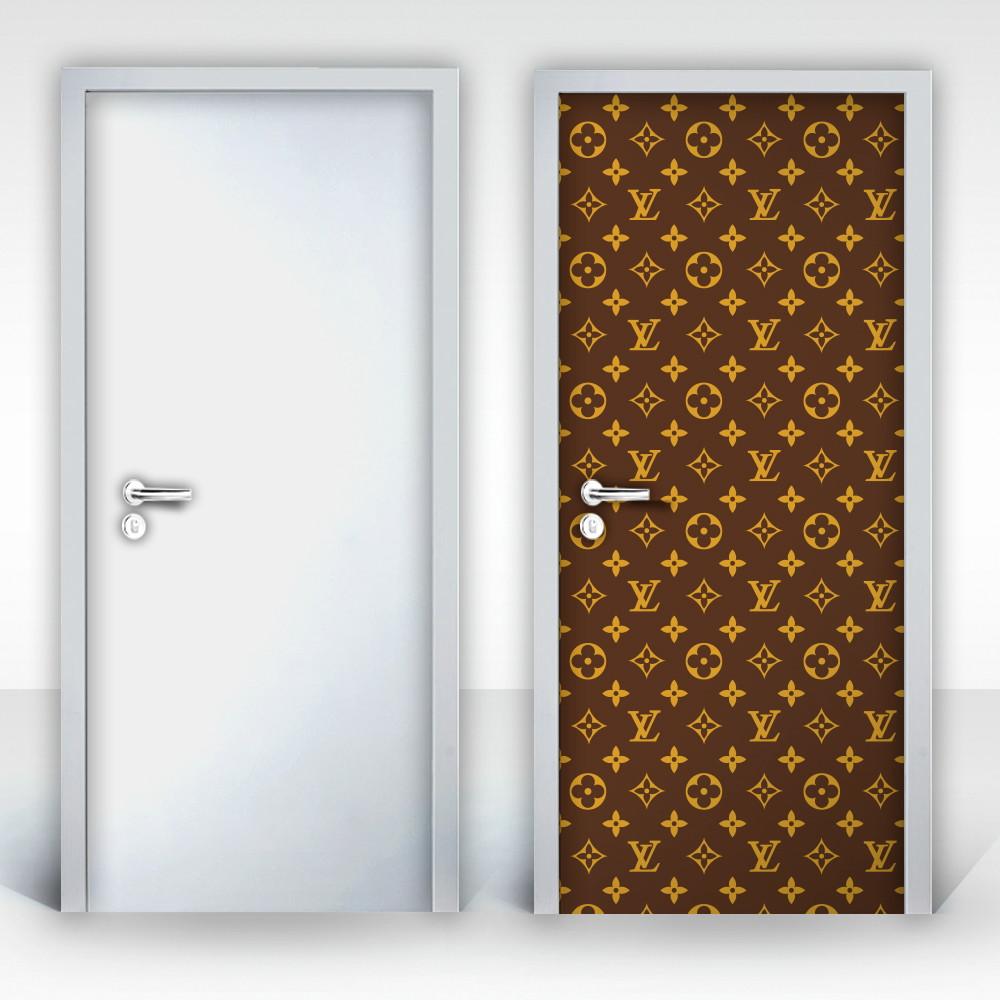 7d568efbe Adesivo para Porta – Louis Vuitton no Elo7   Portas Decoradas (BCE086)