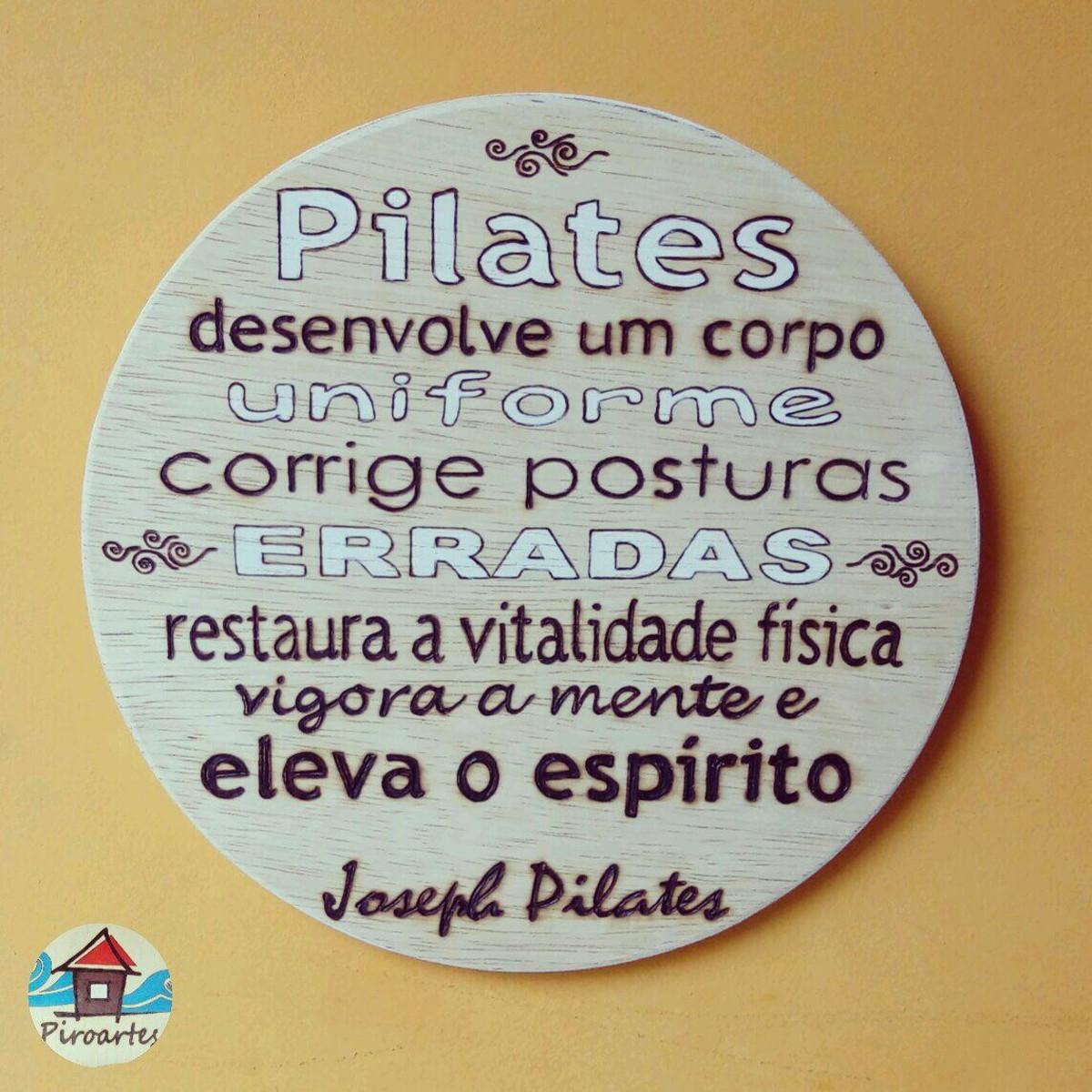 Quadro Decorativo Frase De Joseph Pilates