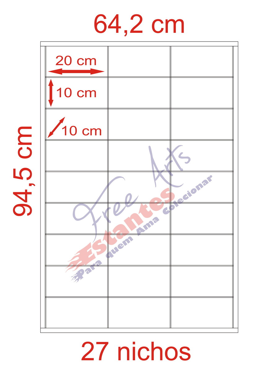 851cf0527 Expositor Para 27 Carrinhos Escala 1 24 no Elo7
