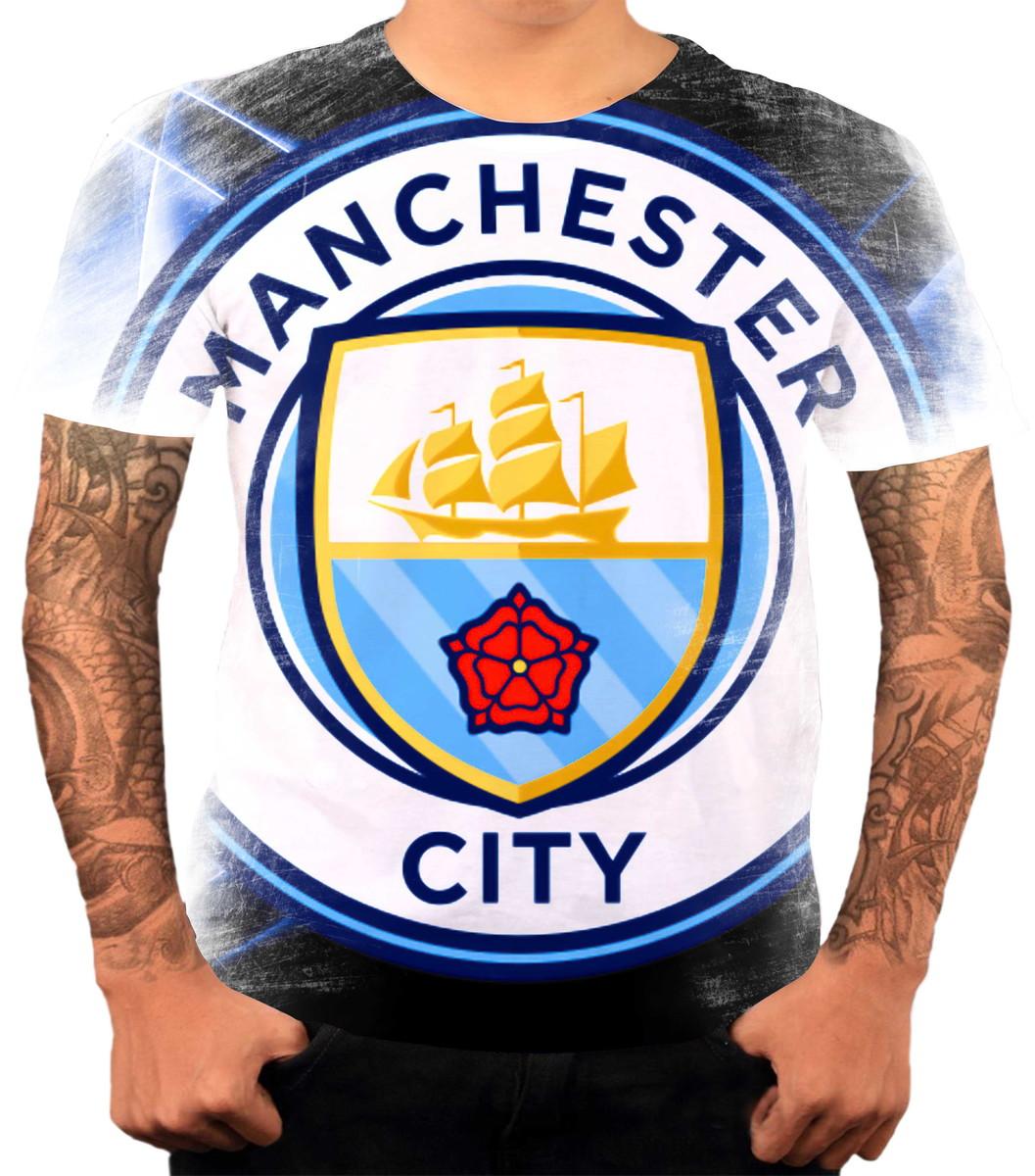 4383a33f7d Camisa Camiseta Personalizada Time Futebol Manchester City 1 no Elo7 ...