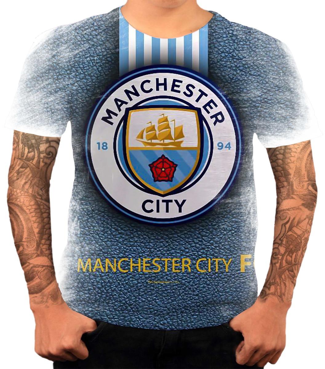 66dd32971a Camisa Camiseta Personalizada Time Futebol Manchester City 2 no Elo7 ...