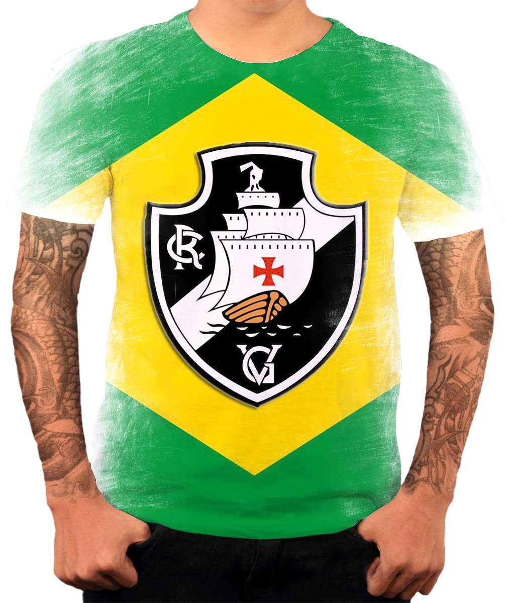 0a5e1d93993a6 Camisa Camiseta Personalizada Time De Futebol Vasco 1 no Elo7 ...
