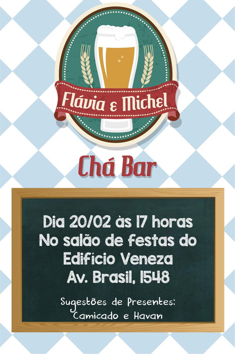 Convite Cha Bar Tema Boteco No Elo7 Uma Ideia E Um Papel Bcf83e