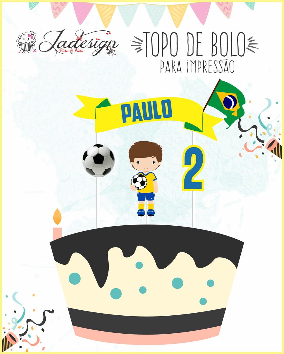 Topo De Bolo Para Impressão Fútebol Copa No Elo7 Jadesign Pw