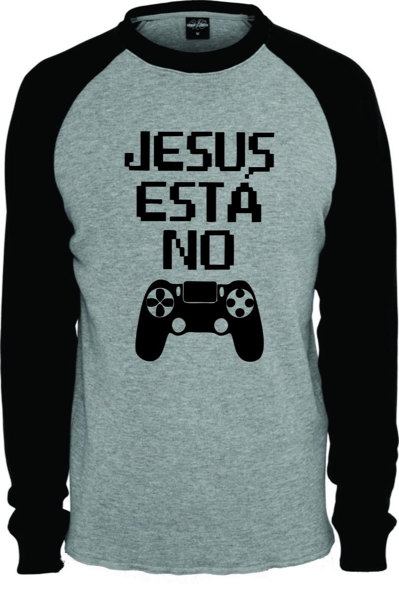 8ea0b4e392bef Camiseta Raglan Manga Longa Jesus Esta No Controle no Elo7 ...