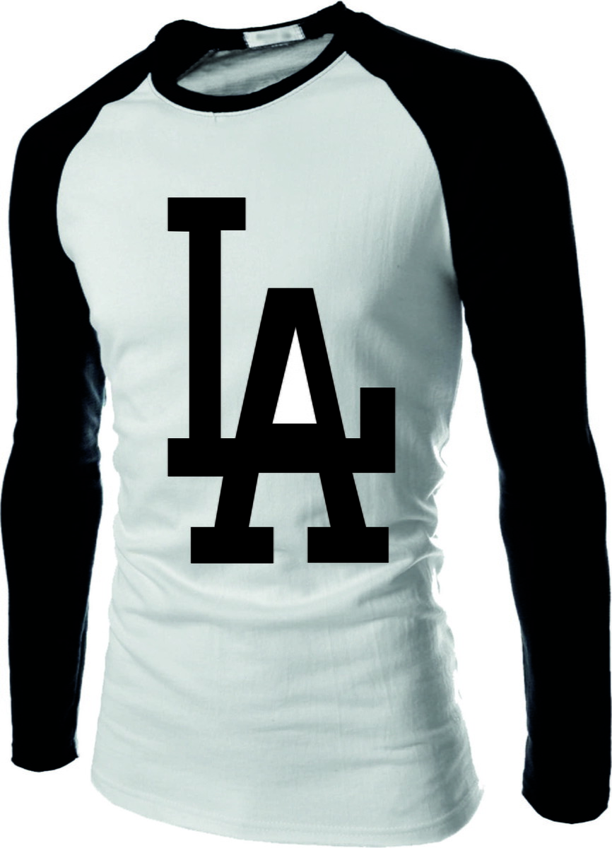 3091709da Camiseta Raglan Manga Longa Los Angeles Dodgers La no Elo7 ...
