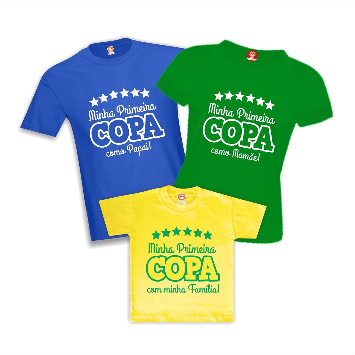 406dccf0b Kit Camisetas Copa do Mundo em Família no Elo7