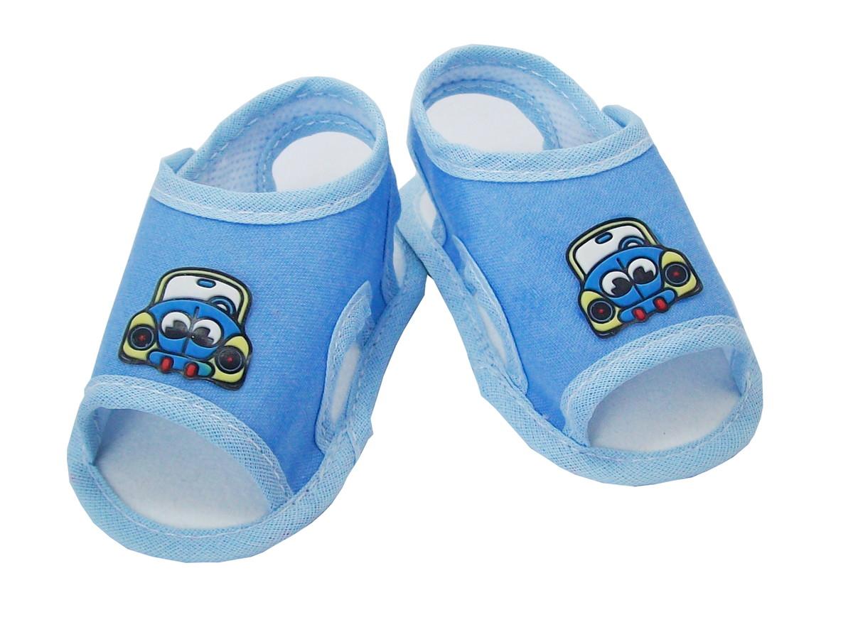 4bb0bb1f0 Sapatinho de Bebê Sandália Azul Carrinho no Elo7   Charminho Baby ...