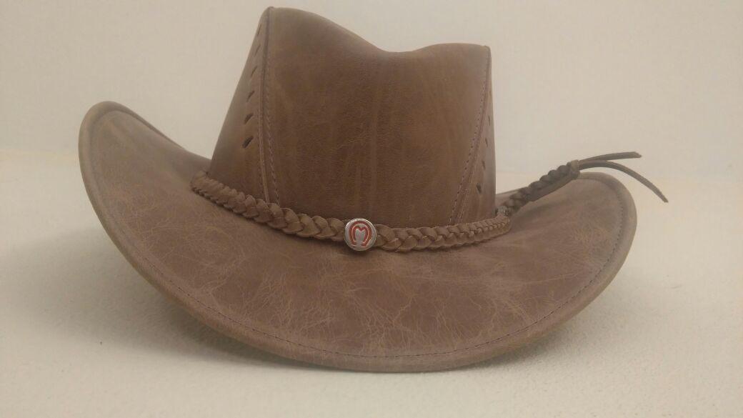 Chapéu country peão adulto australiano couro promoção no Elo7 ... a0e71aa96fd