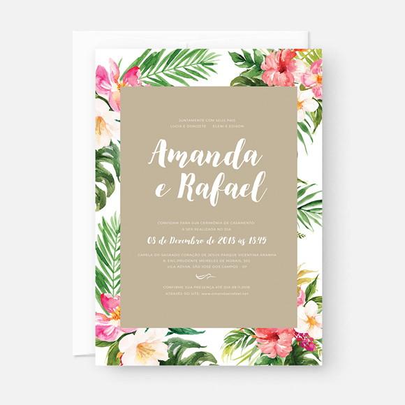 Convite Casamento Praia Virtual Arte Para Imprimir No Elo7