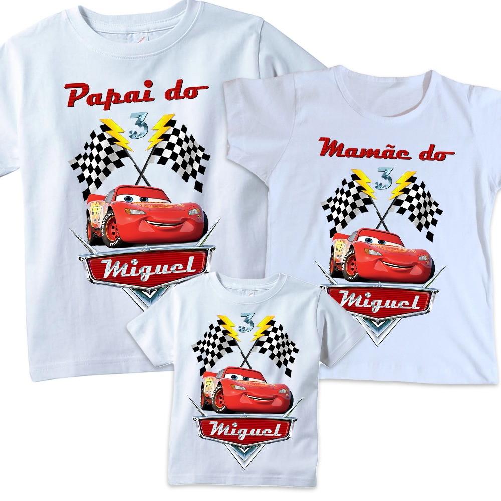 reputable site 48f40 987ca Camisetas Personalizadas Familia Mcqueen Carros aniversario