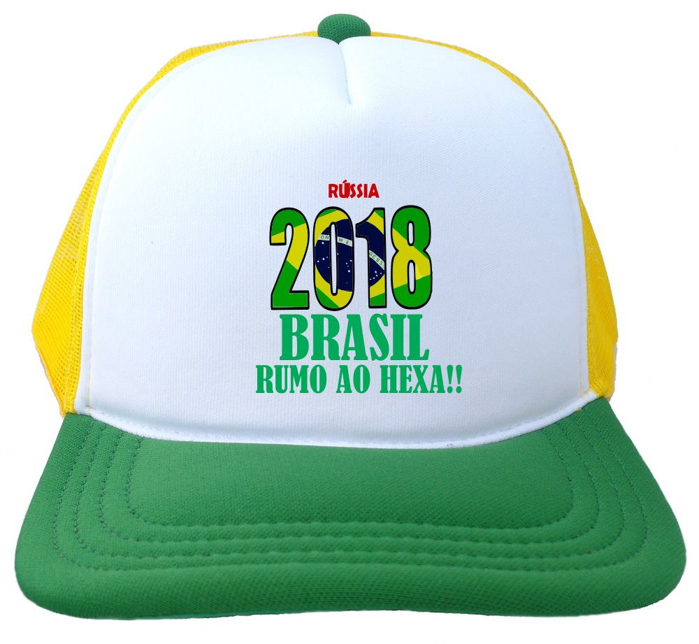 652b0a5738 Boné Trucker branco e verde Russia 2018 brasil copa BN241 no Elo7 ...