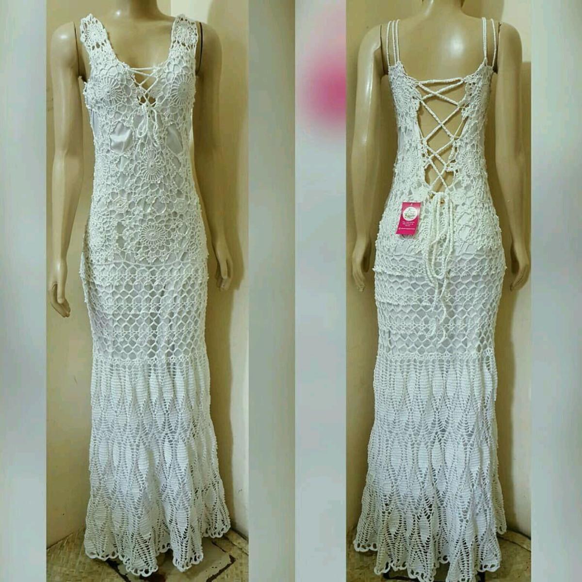23b8e9f2b Vestido Noiva Crochê Adulto no Elo7   Bem_Me_Quer Crochê (BDAF26)