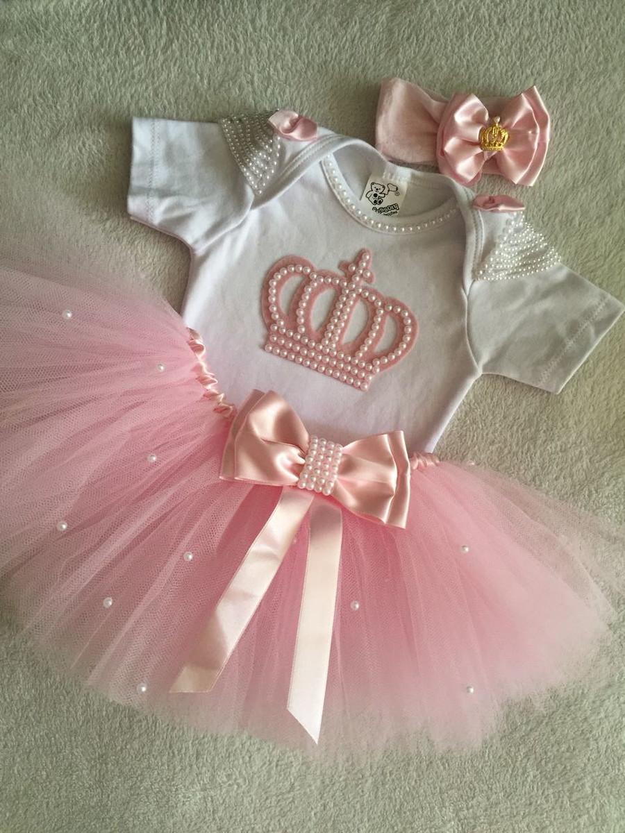 3ea8e3abca Fantasia bailarina coroa realeza rosa no Elo7