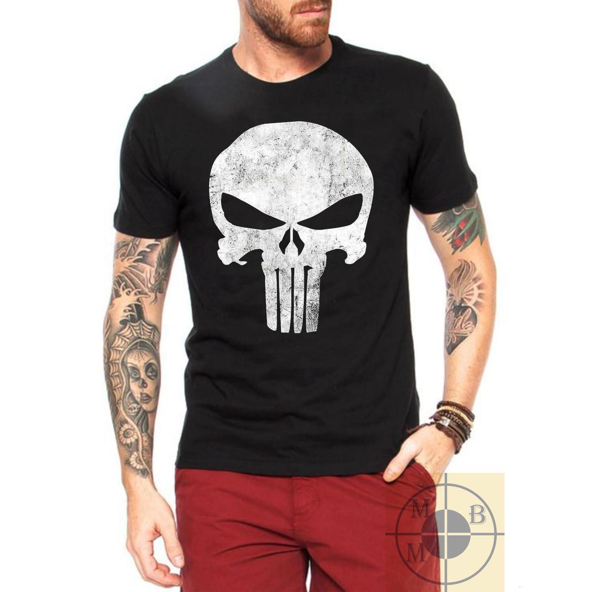 4308e2eab7d45 Camiseta Justiceiro The Punisher Frank Caveira Série Geek no Elo7 ...
