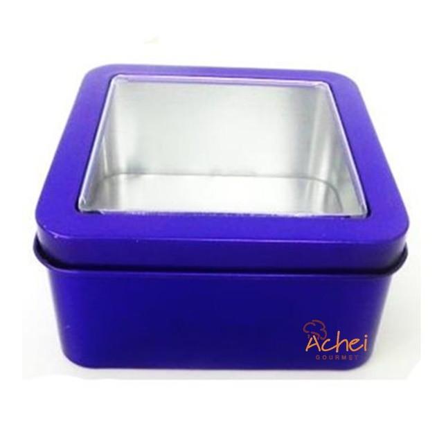 aedc420667cc2 24 Latinha Quadrada Com Visor 5,5cm no Elo7   Achei Gourmet (BDE8B1)