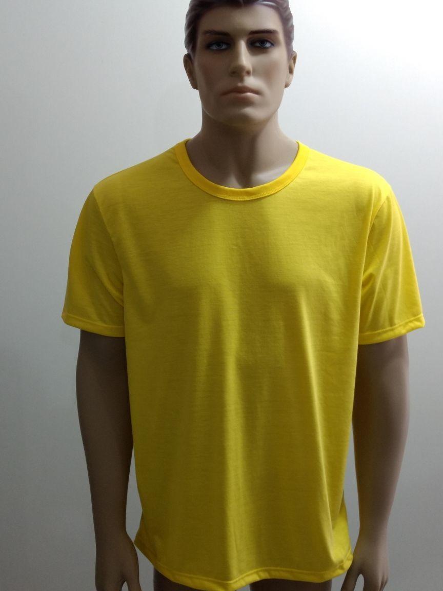 5e3274bec8 Camiseta Lisa 100% Poliéster Amarelo Canario no Elo7