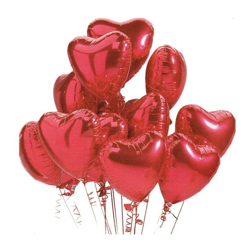 71be5311c Balão coração vermelho 45 cm 30 unidades no Elo7
