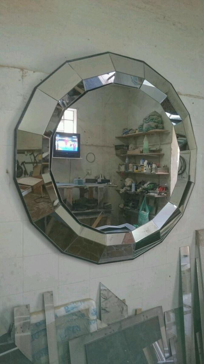 Espelho redondo decorativo no Elo7 Lalo Art Decor (BDF -> Decoração De Sala De Jantar Com Espelho Redondo