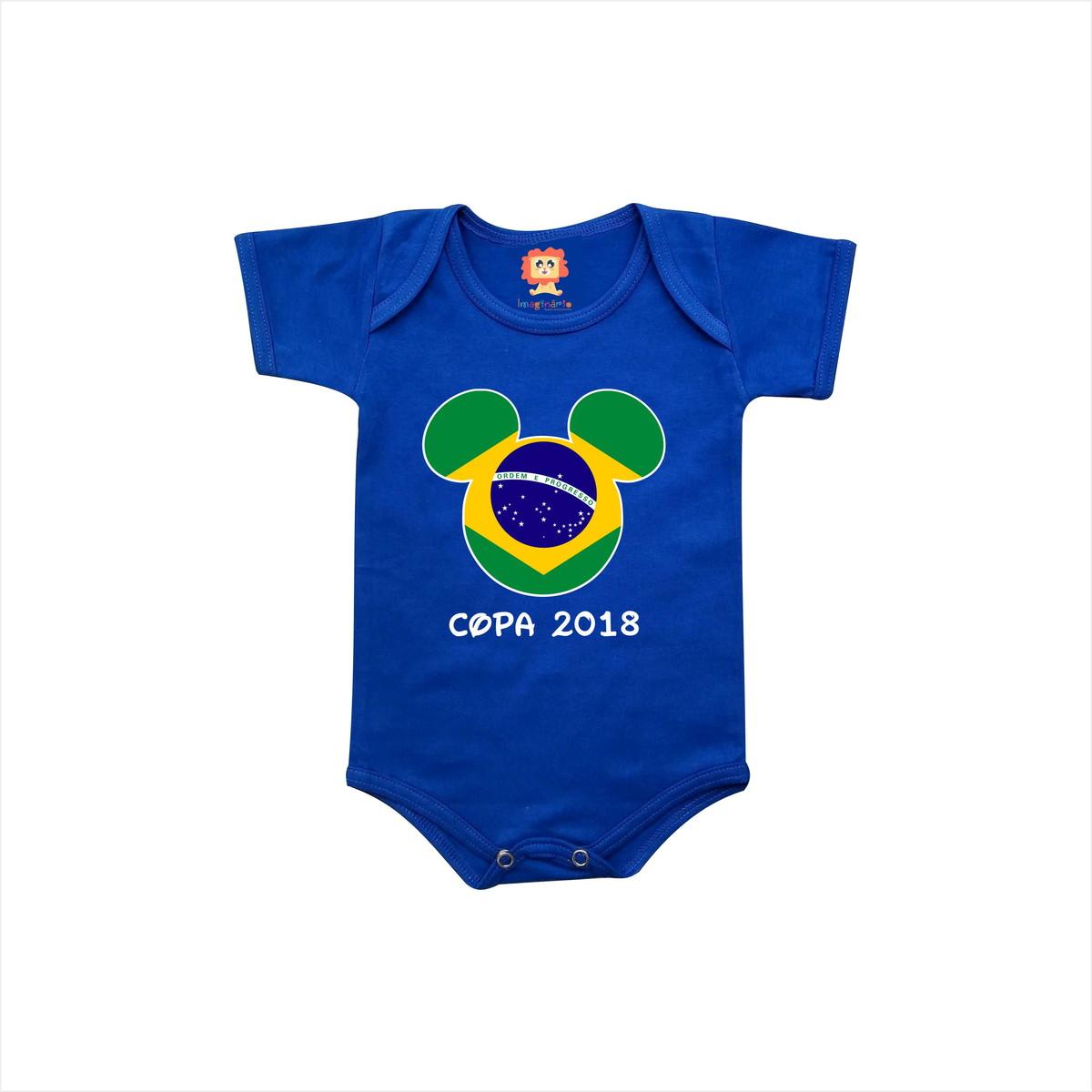 Body de Bebê ou Camiseta Brasil Mickey Copa do Mundo no Elo7 ... 96ca8ecbf10f4
