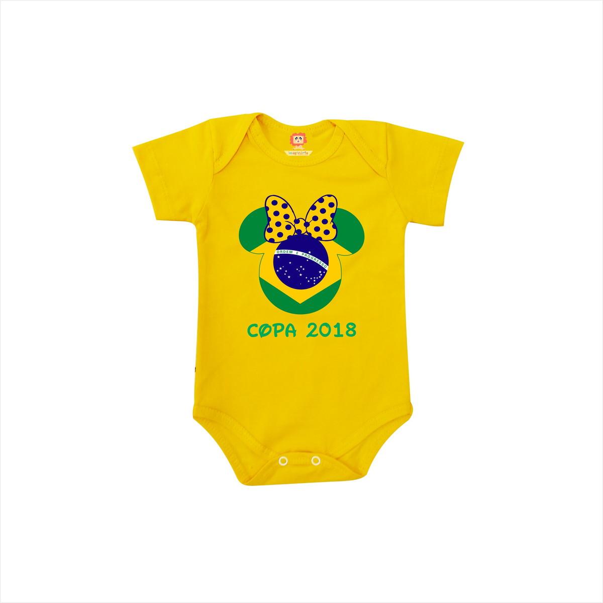 Body de Bebê ou Camiseta Brasil Minnie Copa do Mundo no Elo7 ... 03b400340a722
