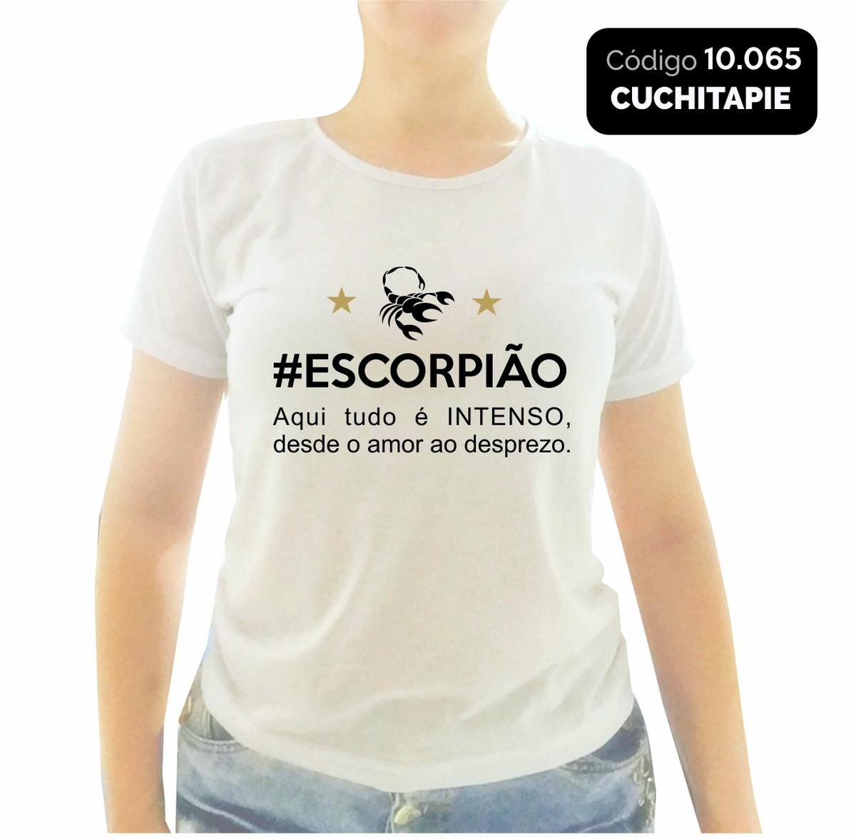 Baby Look Signo Escorpião Frase No Elo7 Cuchitapie Be01f0