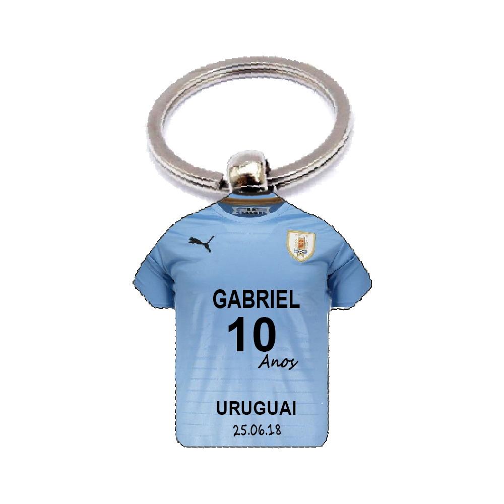 Chaveiro Camisa Copa do Mundo Uruguai no Elo7  eeb83a5bc3bda