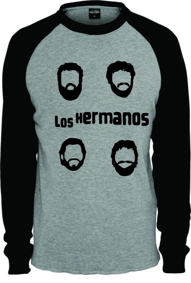 a7475da66 Camiseta Raglan Manga Longa Los Hermanos no Elo7